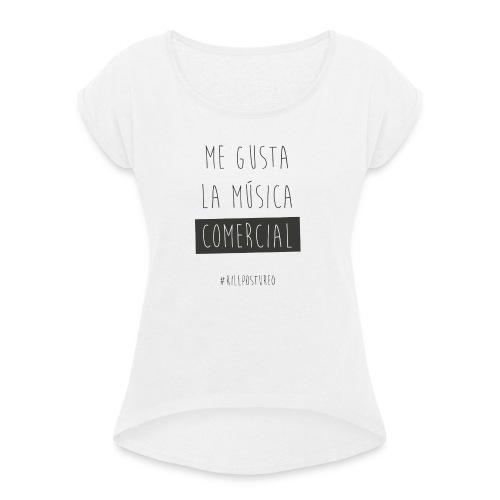MÚSICA COMERCIAL - Camiseta con manga enrollada mujer