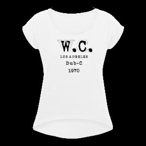 LA Collection - T-skjorte med rulleermer for kvinner