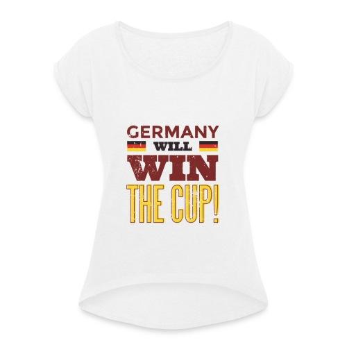 Ger2 russia2018 tshirthq 012 - Frauen T-Shirt mit gerollten Ärmeln