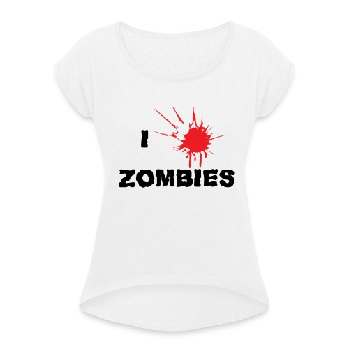 I Zombies - T-shirt à manches retroussées Femme