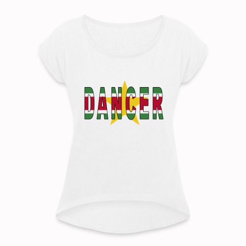 SURINAMESE DANCER - Women's T-Shirt with rolled up sleeves