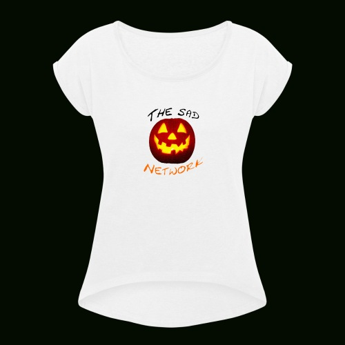 Halloween merch - Women's T-Shirt with rolled up sleeves