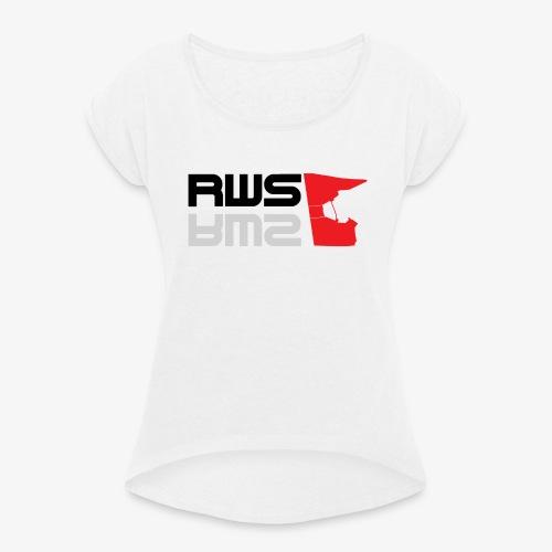 RWS logga - T-shirt med upprullade ärmar dam
