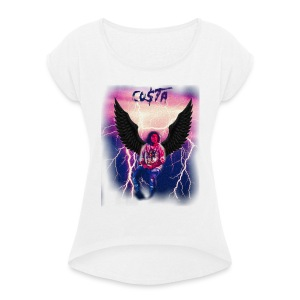 Co$ta Purple Strikes - Women's T-shirt with rolled up sleeves