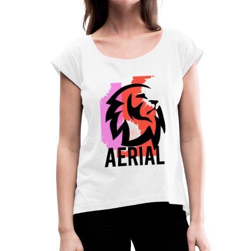 camiseta leon - Camiseta con manga enrollada mujer