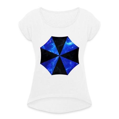 USCORP Logo - Frauen T-Shirt mit gerollten Ärmeln