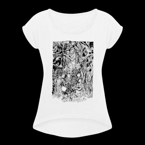 new order - Frauen T-Shirt mit gerollten Ärmeln