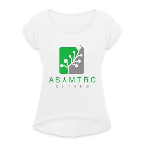 Asymetric Clothing - Imperfection at it's finest - Frauen T-Shirt mit gerollten Ärmeln