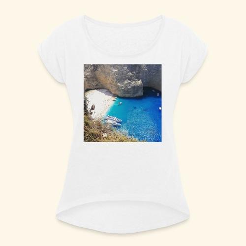 Zakynthos - Frauen T-Shirt mit gerollten Ärmeln