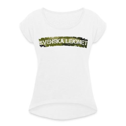 Svenska Lejonet M90 Patch - T-shirt med upprullade ärmar dam