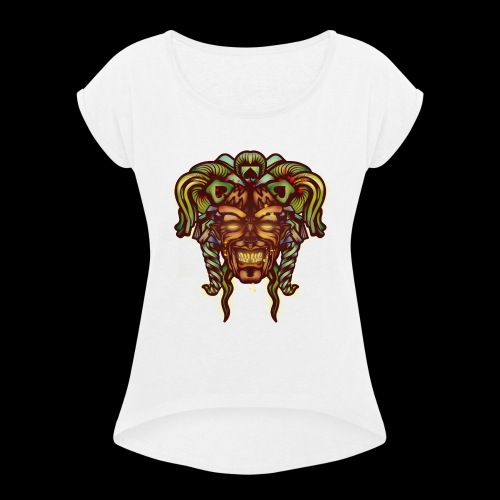 Joker démoniaque - T-shirt à manches retroussées Femme