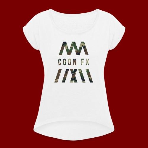 COON FX-ARMY STYLE - Frauen T-Shirt mit gerollten Ärmeln