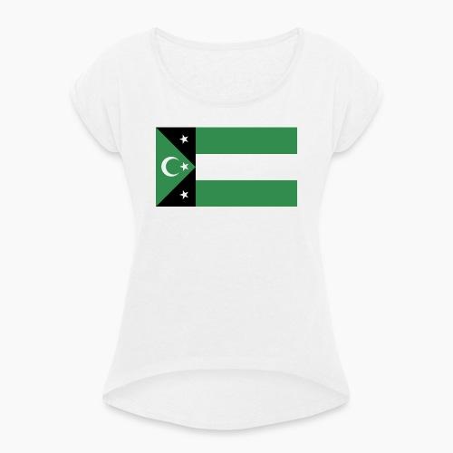 bati-trakya-turkleri - Frauen T-Shirt mit gerollten Ärmeln