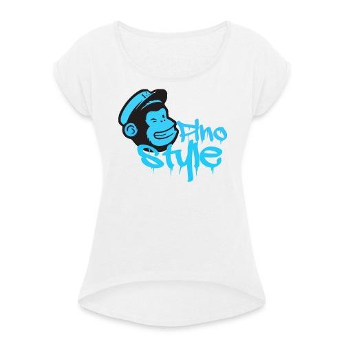 Pino style - Camiseta con manga enrollada mujer