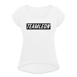 TEAM LEON T-SHIRT WHITE - Women's T-shirt with rolled up sleeves