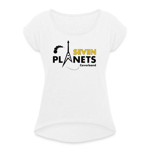 Seven Planets Logo - Frauen T-Shirt mit gerollten Ärmeln