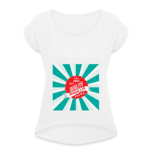 Magalluf-Badge - Women's T-shirt with rolled up sleeves