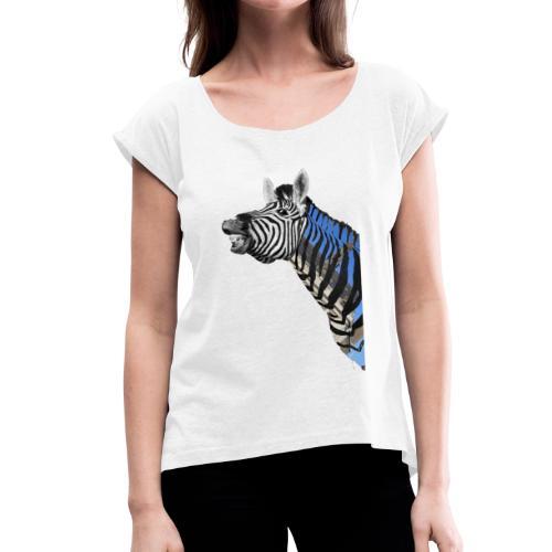 zebre un jour - T-shirt à manches retroussées Femme
