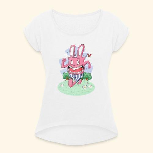 arnold le lapin - T-shirt à manches retroussées Femme