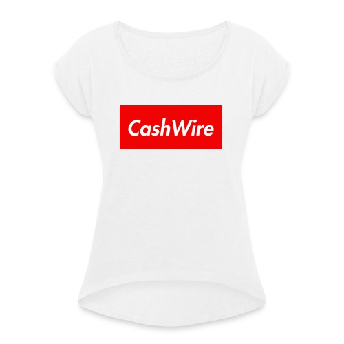 CashWire Box Logo Apparel - Women's T-shirt with rolled up sleeves