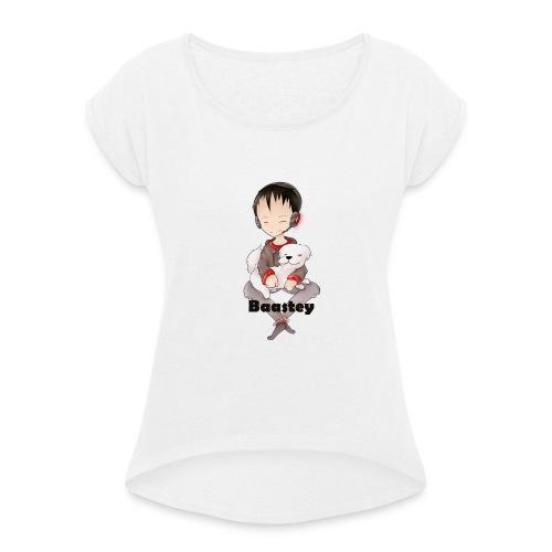 Baastey + Coco Design - Frauen T-Shirt mit gerollten Ärmeln