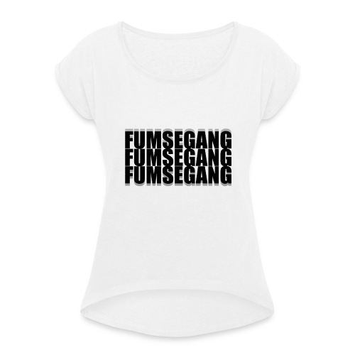 FUMSEGANG Logo Design - Frauen T-Shirt mit gerollten Ärmeln