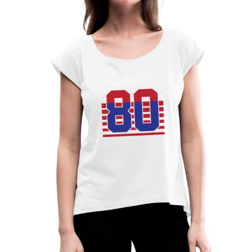 80 Stripes - Maglietta da donna con risvolti