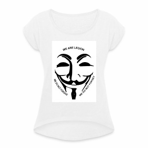Anonymous Collection - Women's T-shirt with rolled up sleeves