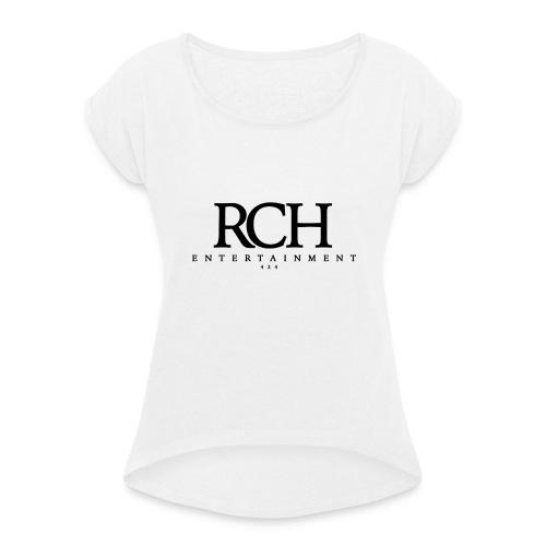 RCH ENTERTAINMENT - Frauen T-Shirt mit gerollten Ärmeln