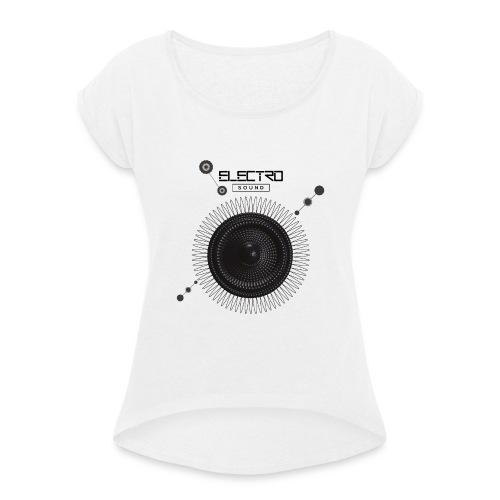 Electro Sound - Maglietta da donna con risvolti