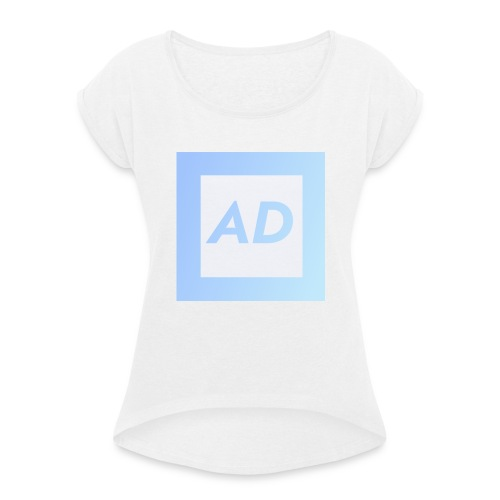 Blue Logo - Women's T-Shirt with rolled up sleeves