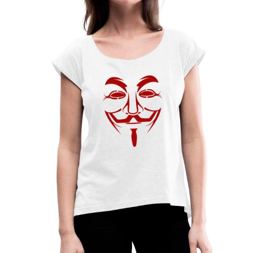 Anonym - Frauen T-Shirt mit gerollten Ärmeln