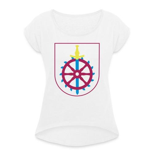 Weißenseer Wappen - Frauen T-Shirt mit gerollten Ärmeln
