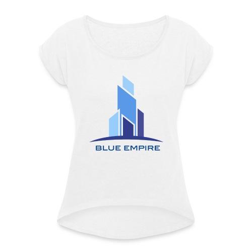 Logo Azul - Camiseta con manga enrollada mujer