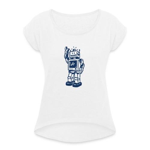 robi v01a - Frauen T-Shirt mit gerollten Ärmeln