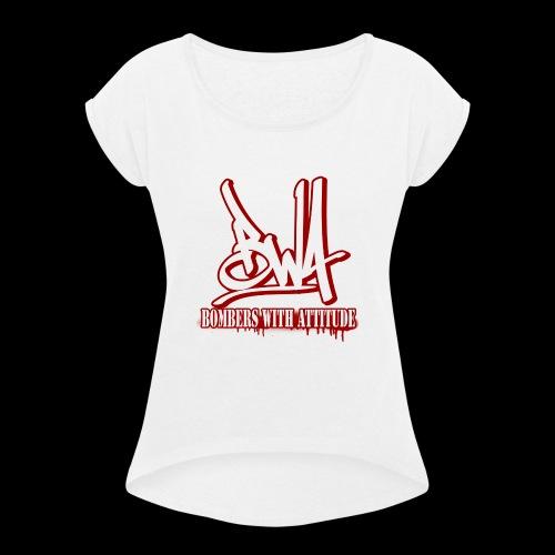 BWA-Bombers with attitude - Frauen T-Shirt mit gerollten Ärmeln