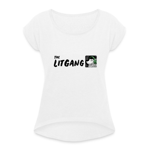 LitGang - Women's T-Shirt with rolled up sleeves
