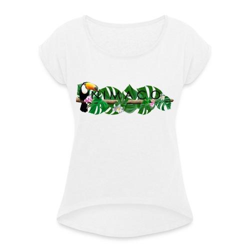 NIMACO Tukan - Frauen T-Shirt mit gerollten Ärmeln
