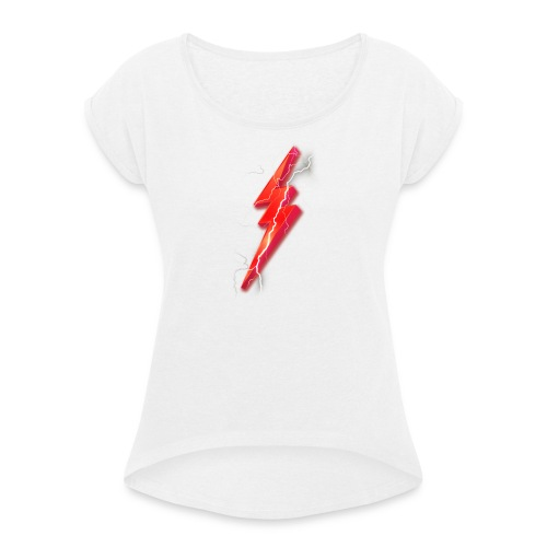 Flash2G Official Merch - Women's T-shirt with rolled up sleeves