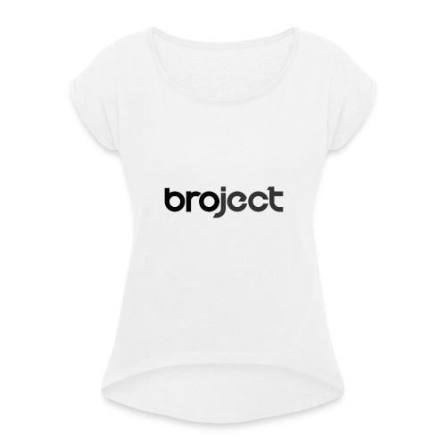 Logo - Frauen T-Shirt mit gerollten Ärmeln