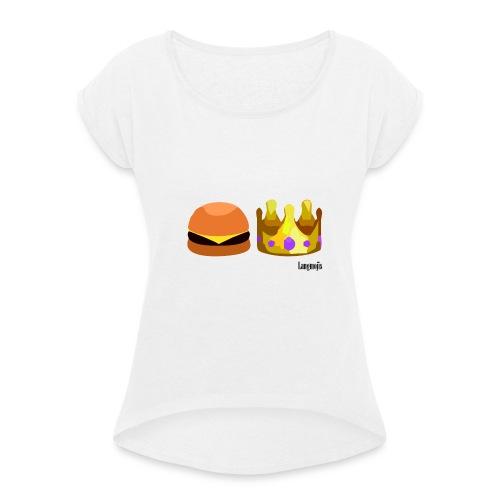 Langmojis - Frauen T-Shirt mit gerollten Ärmeln