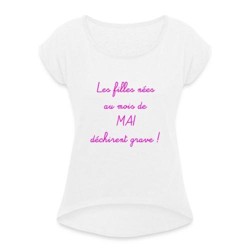 mai - T-shirt à manches retroussées Femme