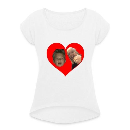 Sebber in love - Dame T-shirt med rulleærmer