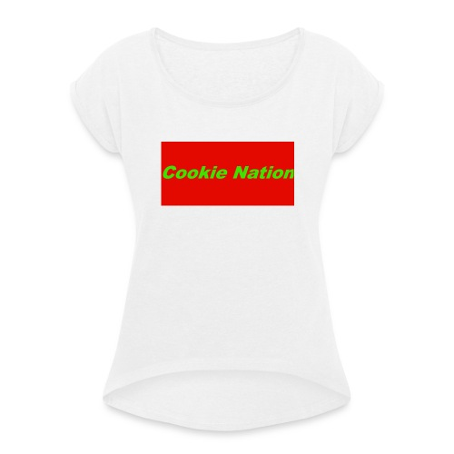 Geen_naam - Vrouwen T-shirt met opgerolde mouwen