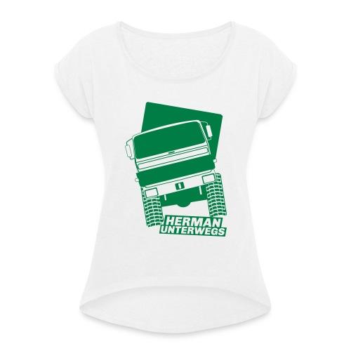 Herman unterwegs H3 - Frauen T-Shirt mit gerollten Ärmeln