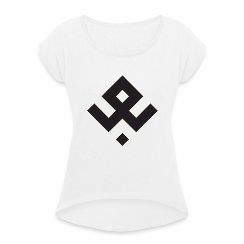Rune D'odal - T-shirt à manches retroussées Femme