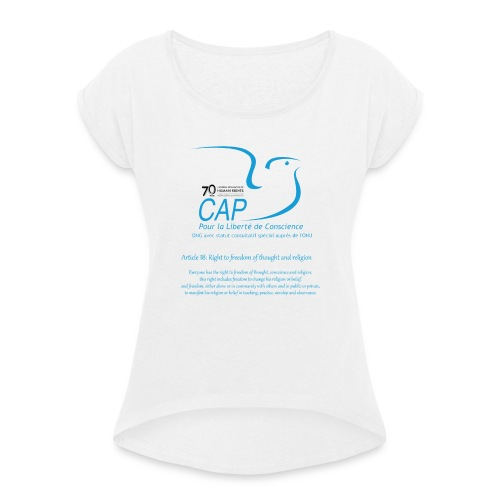 logoCAPLCart18eng - T-shirt à manches retroussées Femme
