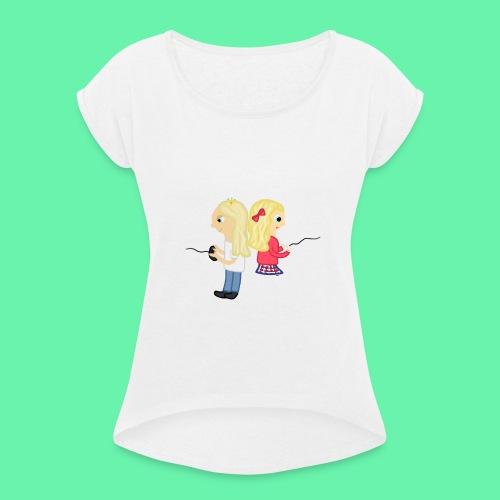 Gaming - T-shirt med upprullade ärmar dam