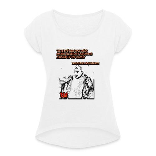 Les Grands figures de l'histoire et Barbus in game - T-shirt à manches retroussées Femme