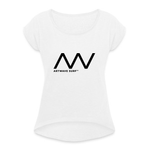 Artwave Surf - Women's T-shirt with rolled up sleeves